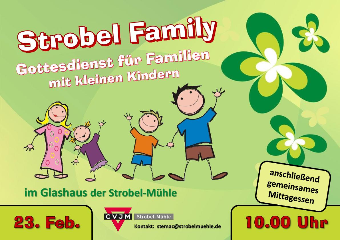 Flyer Strobel Family am 23.02.2020