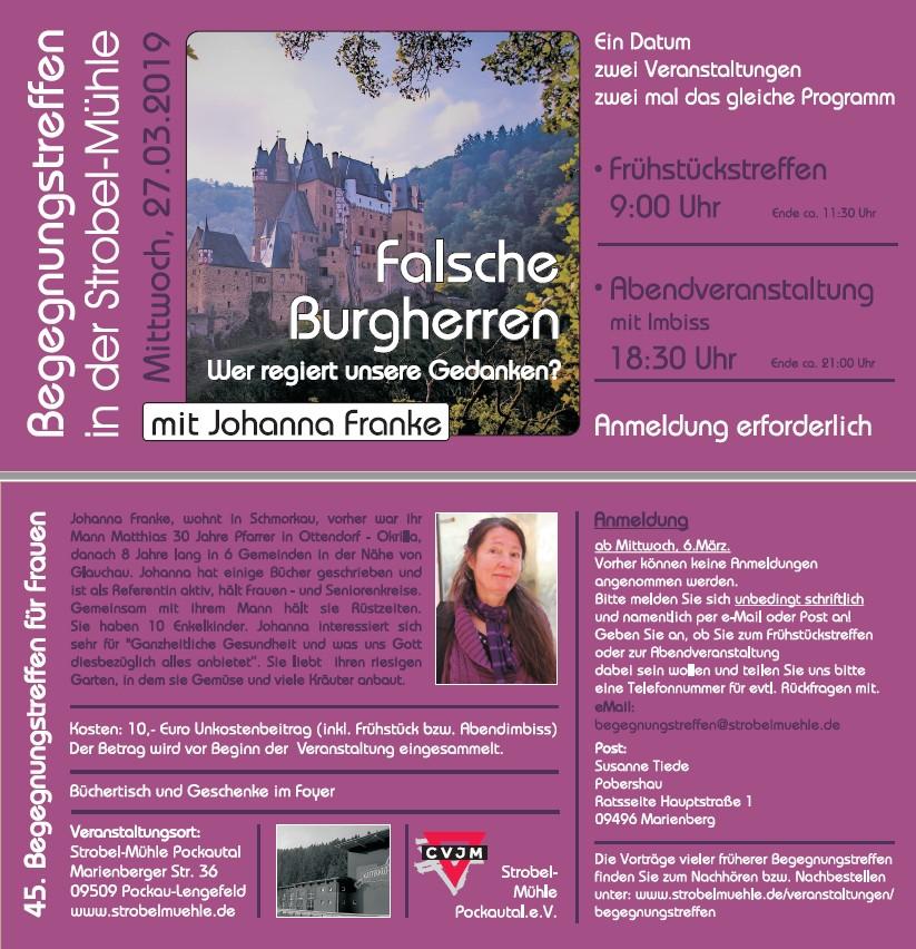 Flyer Begegnungstreffen am 27.03.2019