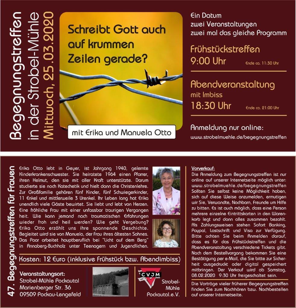 Flyer Begegnungstreffen am 25.03.2020